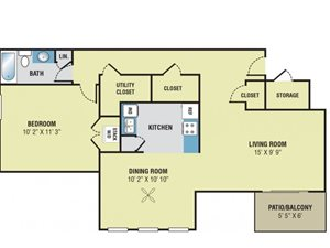 Park Meadows Apartments 1 Bedroom Floor Plan